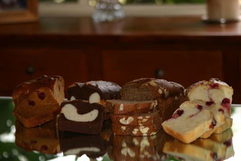 mrsappletree offers an assortment of high quality tea breads